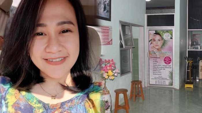 Perawat cantik dibakar hidup-hidup, Senin (3/5/2021). Korban berusia 35 tahun asal Desa Arjowilangun, Kecamatan Kalipare, Kabupaten Malang. Foto kanan : TKP.