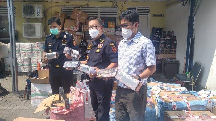 Rokok Ilegal Diamankan di Lampung Selatan Bernilai Rp 946 Juta