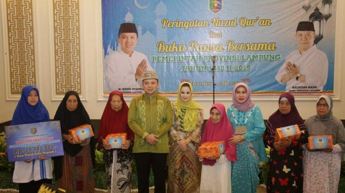 Peringatan Nuzulul Quran di Mahan Agung, Gubernur Ridho Ajak Jaga Ukhuwah Demi Kemajuan Lampung