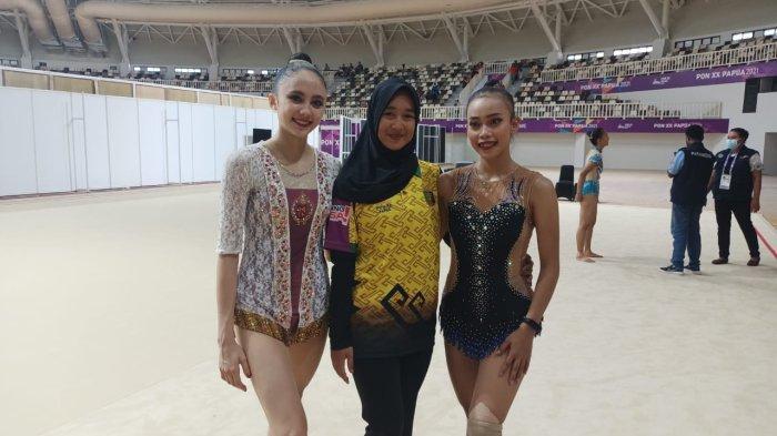 Pesenam Ritmik Putri Lampung Sutjiati Tak Menyangka Sabet Dua Emas Sekaligus di PON Papua 2021