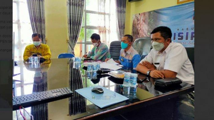 Plh Bupati Pesisir Barat Lingga Kusuma Ikuti Rakor Penanganan Covid 19 di Provinsi Lampung