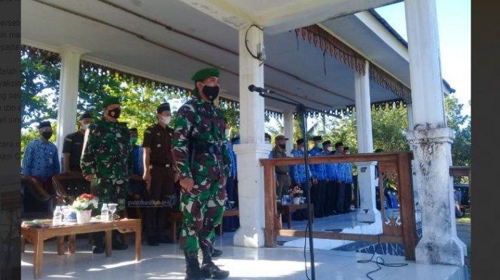 Plh Bupati Pesisir Barat Hadiri Upacara Menyambut Perayaan Hari Ulang Tahun Provinsi Lampung ke 57