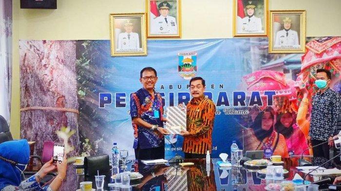 Bupati Pesisir Barat Terima Kunjungan Kerja Tim Pemerintah Provinsi Lampung