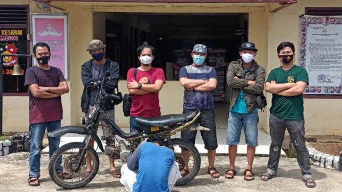 Petani di Pesawaran Diamankan Polisi Curi Motor Tetangga