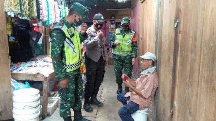 Tak Pakai Masker, 9 Orang di Pasar Kedondong Pesawaran Dapat Teguran dari Petugas