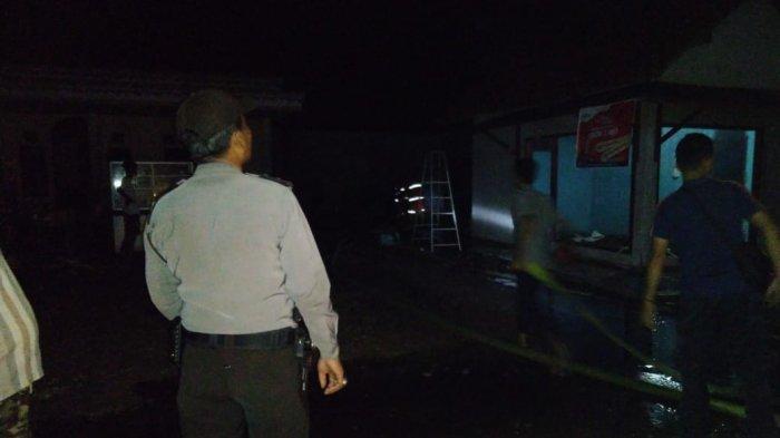 Lupa Matikan Kompor Penyebab Kebakaran Warung Soto di Banjar Agung Tulangbawang