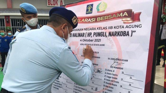 Rutan dan Lapas Kota Agung Lampung Berkomitmen Zero Halinar