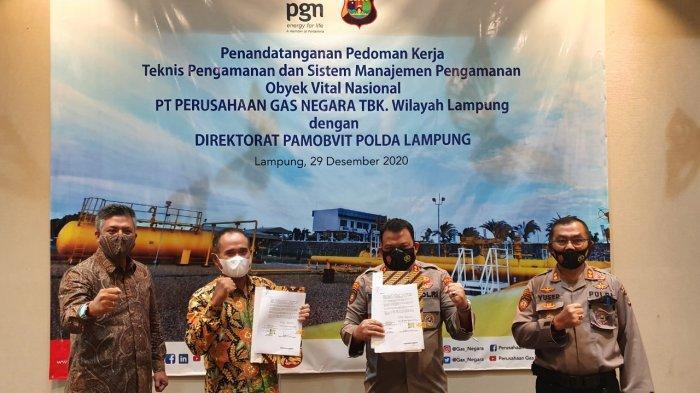 Jaga Pengamanan Obvitnas Lampung, PGN Kerjasama dengan Polda Lampung
