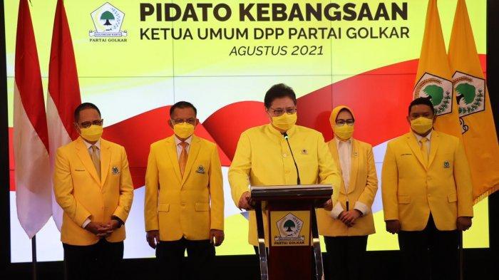 Pidato Ketum DPP Golkar Airlangga Hartarto tentang Demokrasi dan Kesejahteraan Jelang HUT Ke-50 CSIS