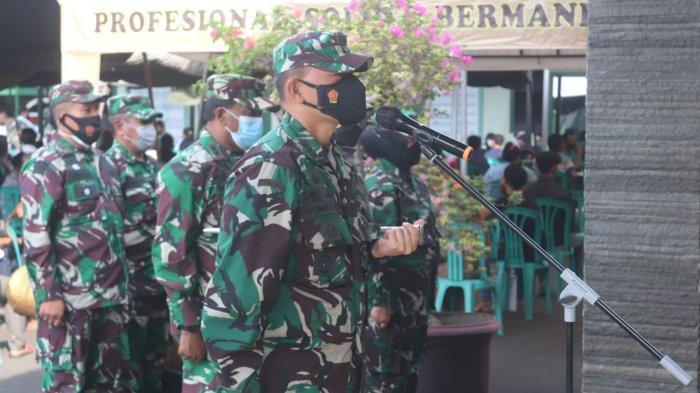 Kolonel Inf Romas Herlandes Pimpin Acara Tradisi Corp Raport Pindah Satuan di Makodim
