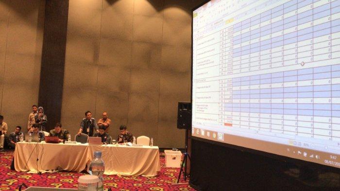 Pembacaan Rekapitulasi Suara KPU Pesawaran, 3 Paslon Bersaing