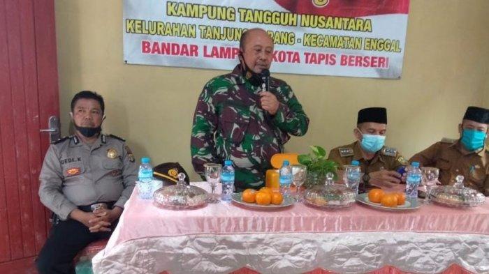 Kapten Inf Bunyamin Hadiri Launching Kampung Tangguh Nusantara Kecamatan Enggal