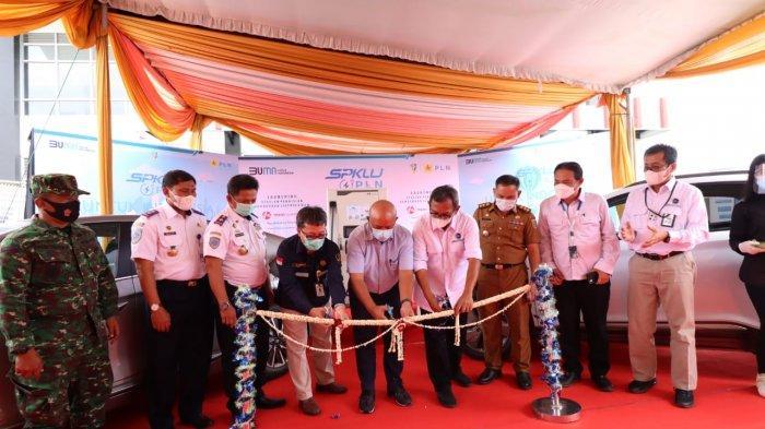PLN UID Lampung Launching SPKLU di Tol Bakauheni-Terbanggi