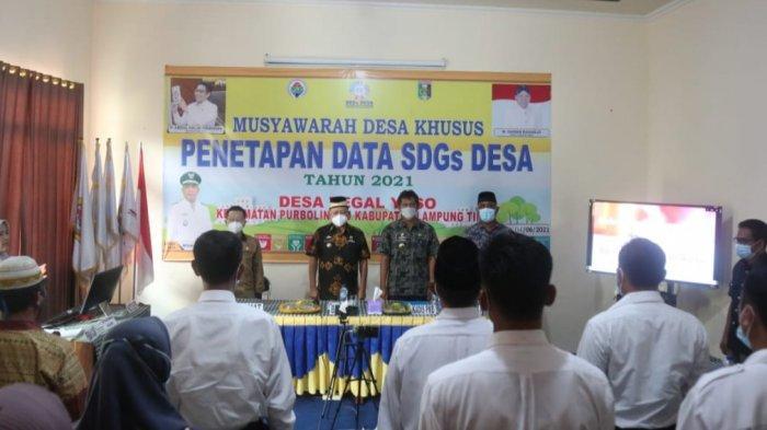 Dinas PMD Lampung Timur Tetapkan Data SDGs