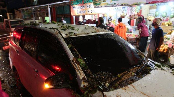 Mobilnya Tertimpa Pohon Tumbang, Renaldo Apes Sekaligus Beruntung