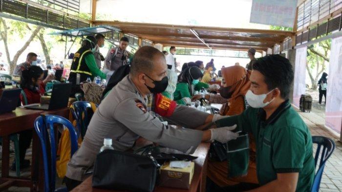 Polda Lampung Imbau Masyarakat Lampung Tengah Divaksin