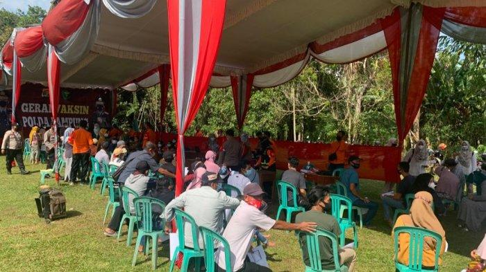Polda Lampung Gelar Vaksin Gratis di Jabung