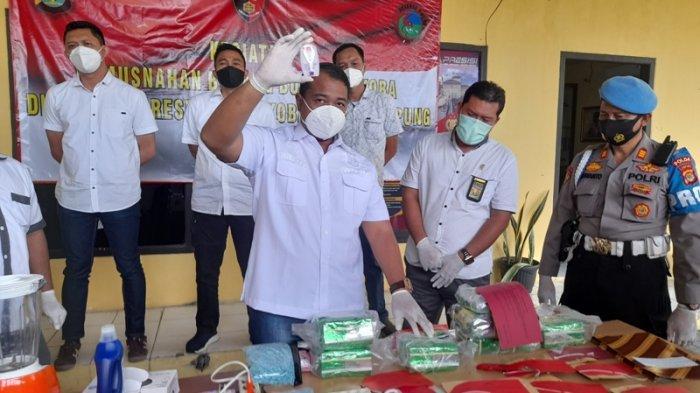 Polda Lampung Musnahkan 9 Kg Sabu dan 4.990 Butir Pil Ekstasi