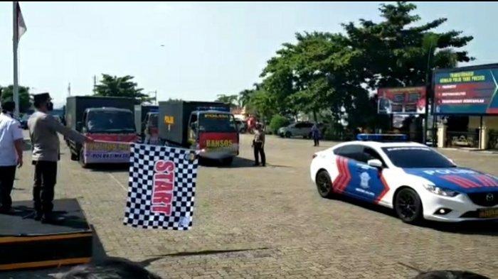 Polda Lampung Salurkan 184 Ton Beras untuk Warga Terdampak Covid-19
