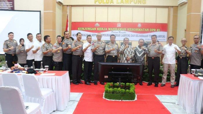 Polda Lampung Menerima Kunjungan Kerja Mahkamah Kehormatam DPR RI