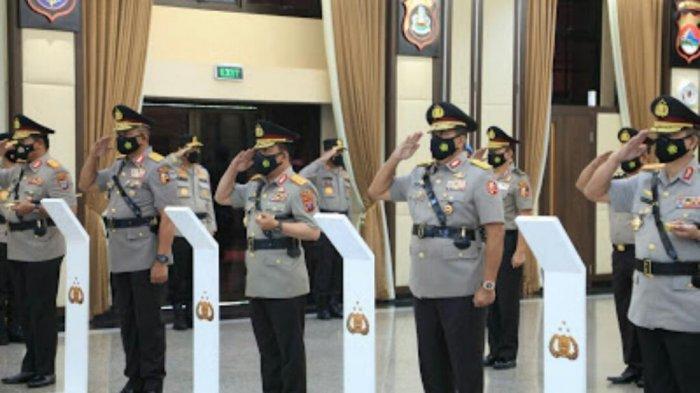 Kapolri Pimpin Sertijab Kapolda Lampung di Rupatama Mabes Polri