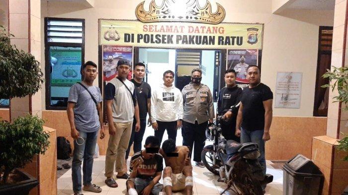 Polsek Pakuan Ratu Amankan Dua Pelaku Curas di Kampung Sukabumi