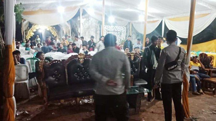 Polisi Bubarkan Acara Hajatan Pernikahan di Tulangbawang karena Sampai Larut Malam
