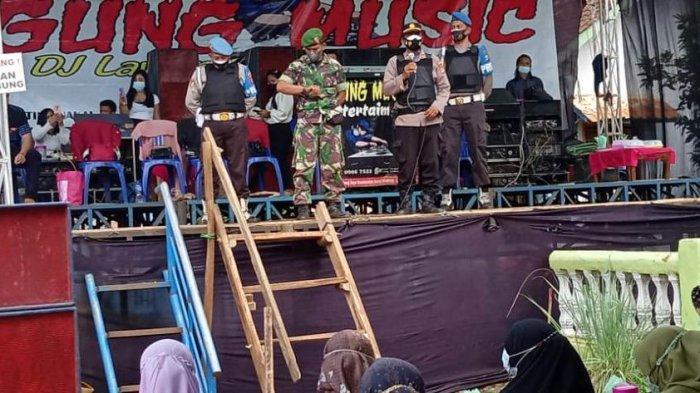 Tim Satgas Covid-19 Lampung Timur Bubarkan Acara Hajatan di Kecamatan Melinting