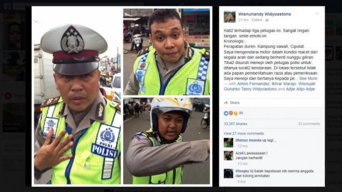 Tanyakan Surat Tugas, Pengendara Motor Malah Dikeroyok Polantas di Ciputat