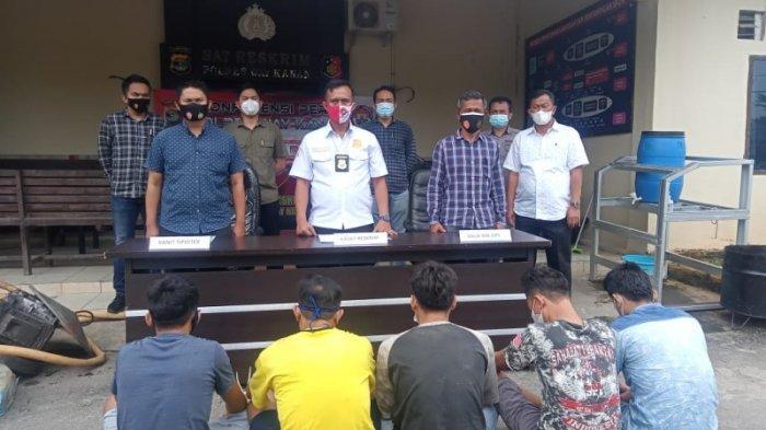 Polisi Ringkus 5 Pelaku Ilegal Mining di 4 Lokasi Berbeda di Aliran Sungai Way Kanan