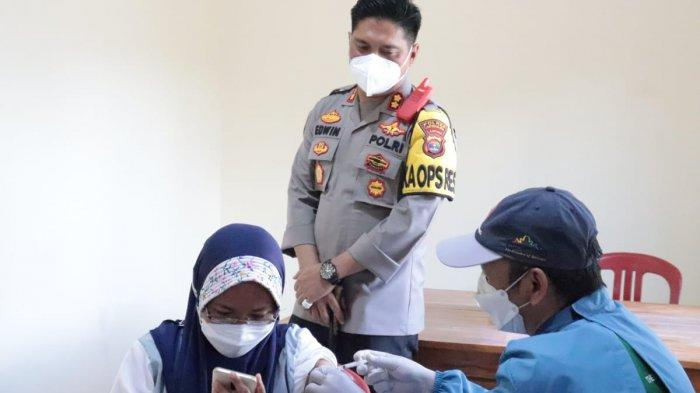 Polres Lampung Selatan Gelar Vaksinasi Massal 1000 Dosis ke Masyarakat