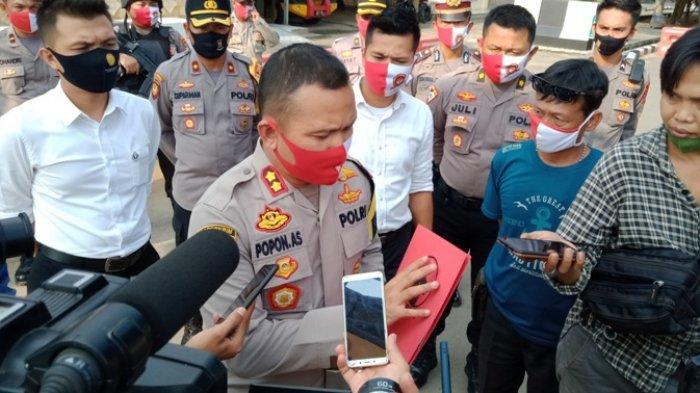 Polres Lampung Tengah Lakukan 2 Kali Test Swab Kepada Pengendara Melintas