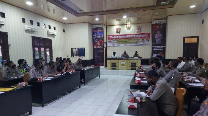 Jelang Ramadan, Polres Lampung Utara Gelar Operasi Keselamatan Krakatau 2021