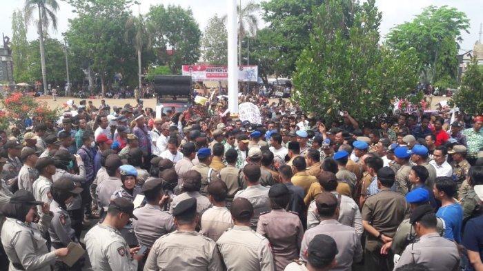 Polres Lampung Utara Terjunkan 771 Personel Amankan Aksi Damai Apdesi Tuntut Pembayaran Dana Desa