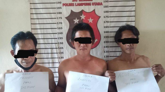 3 Warga Lampung Utara Tepergok Main Judi Sabtu Malam