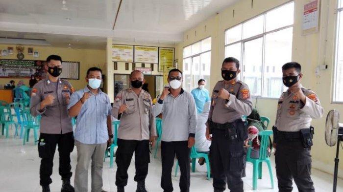 Polres Mesuji Lampung Tinjau Percepatan Vaksinasi di Desa Gedung Mulya