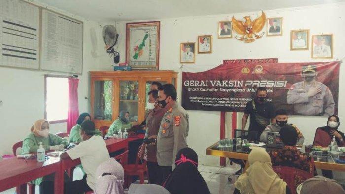 Polres Pesawaran Lampung Gencar Laksanakan Vaksinasi Covid-19