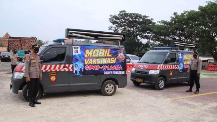 Kegiatan Vaksinasi Covid 19, Polres Pringsewu Sediakan Dua Kendaraan Untuk Antar Jemput