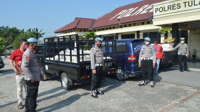 Polres Tulangbawang Lampung Terima Bansos 500 Paket Sembako untuk Warga Terdampak Covid-19