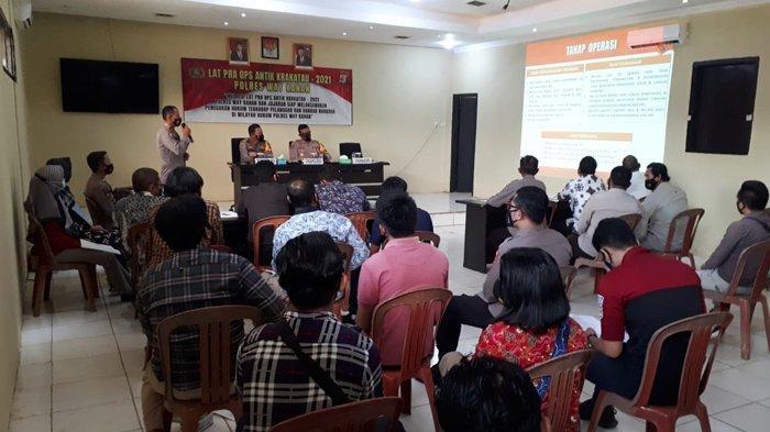 Polres Way Kanan Gelar Latihan Pra Operasi Antik Krakatau 2021