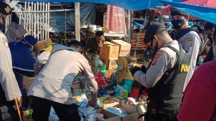 Polres Way Kanan Gelar Operasi Yustisi dan Cek Harga Sembako di Pasar