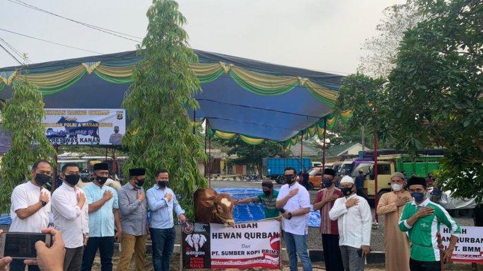 Idul Adha 2021, Polres Way Kanan Kurban 6 Ekor Sapi