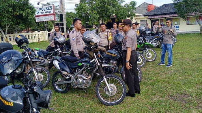Polres Way Kanan Periksa 122 Unit Randis Bhabinkamtibmas