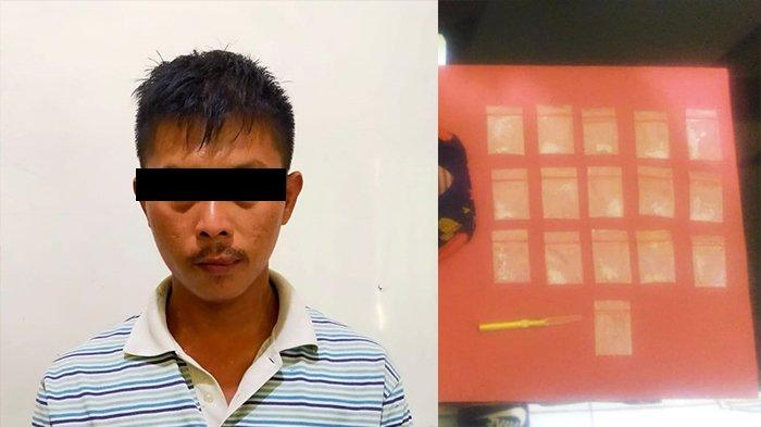 Polsek Jati Agung Lampung Selatan Amankan Penyalaguna Narkoba, BB 15 Klip Sabu