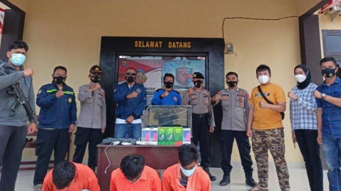 Polsek Pulau Panggung Lampung Tangkap 3 Pembobol Konter Kurang dari 24 Jam