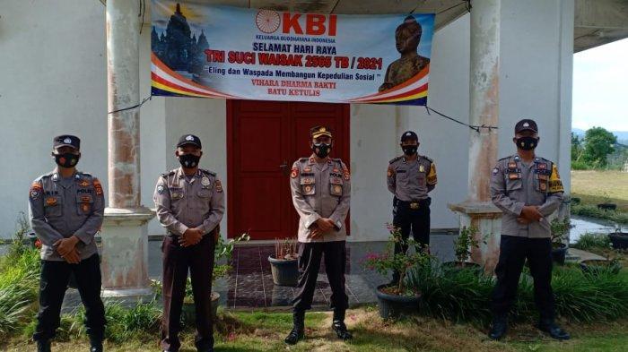 Polsek Sekincau Lampung Barat Monitoring Perayaan Waisak
