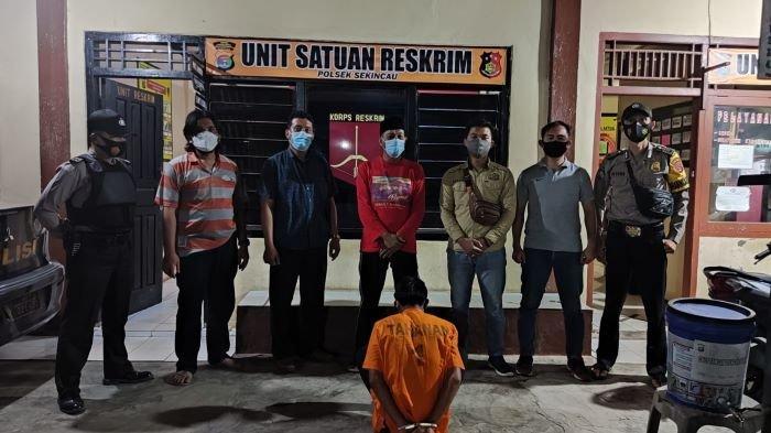 Proses Penangkapan Petani Aniaya Wanita di Batu Brak Lampung Barat
