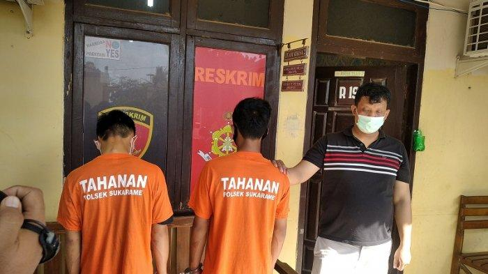 Anggota opsnal Reskrim Polsek Sukarame menciduk dua pelaku curanmor asal Lampung Timur.
