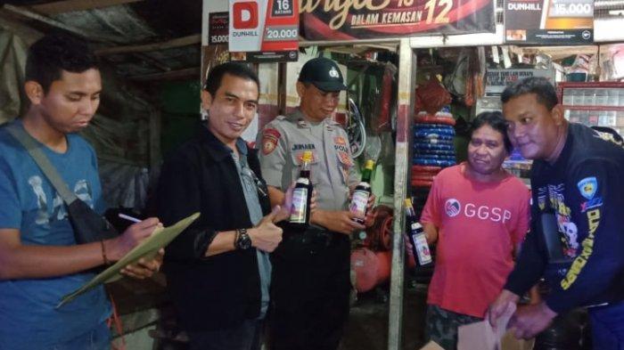 Lampaui Batas Alkohol, Puluhan Botol Miras Disita Polsek Terbanggi Besar