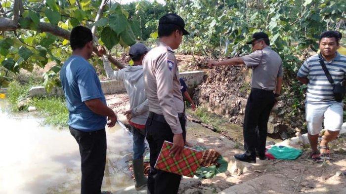 Polsek Way Tuba Olah TKP Siswa SD Tenggelam di Sungai Way Pisang